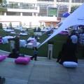 Open air ice cream lounge