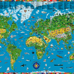 illustrated-world-map-wallpaper