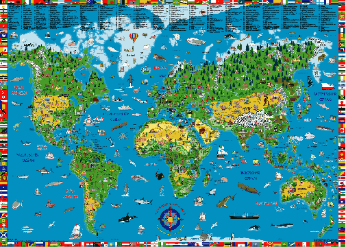 Tom blogs the world on your desktop map wallpaper illustrated world map wallpaper gumiabroncs