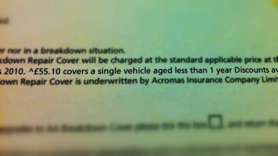 Starting fee is for cars under a year old.