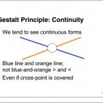 Gestalt principle - continuity