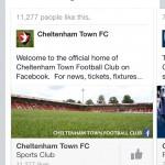 facebook recommends Cheltenham Town