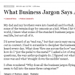 What Business Jargon Says About Us