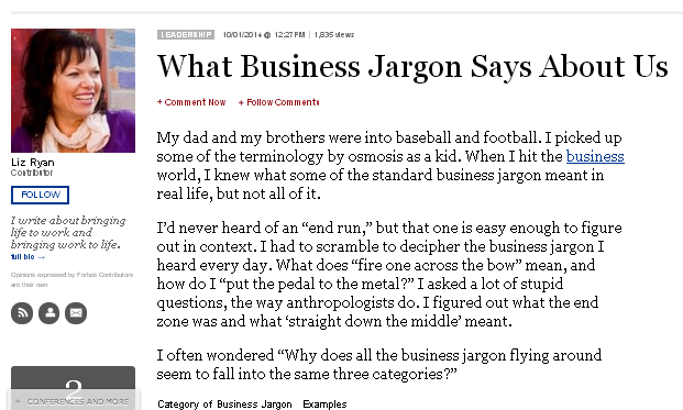 Business jargon shows what people would be rather be doing